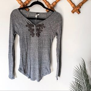 Free People   gray Embellished Thermal